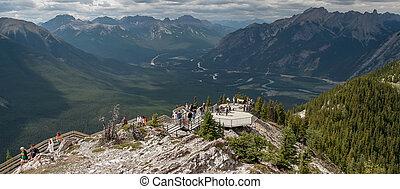 Viewing platform near Banff Alberta