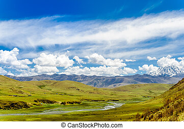 Tagong grassland and Mount Yala in Sichuan province - China