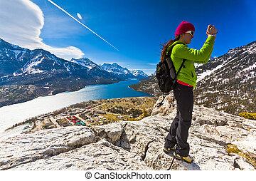Viewpoint at Waterton Lakes National Park
