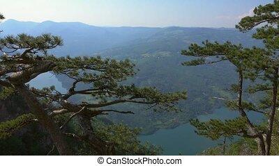 Viewpoint Banjska stena rock at Tara mountain looking down ...
