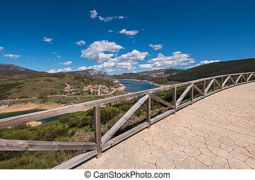 Viewpoint in a natural landscape in Palencia mountains, Castilla y Leon, Spain.