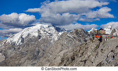 Viewpoint in Stelvio pass - Panoramic Viewpoint and dolomite...