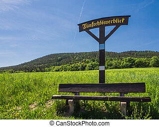 Viewpoint in the Thuringian Forest (Germany).