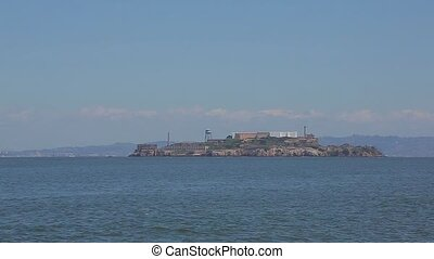 Viewpoint of Alcatraz Prison in San Francisco Bay. Alcatraz...