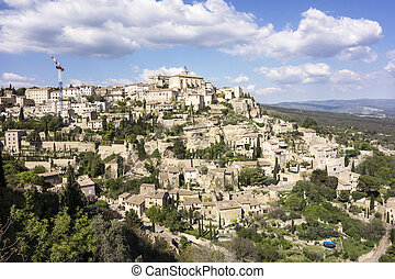 Viewpoint of Gordes in Luberon
