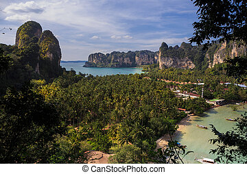 viewpoint of Railay Beach in Krabi province, Thailand.