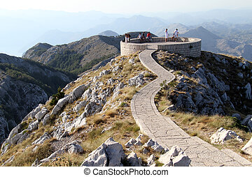 Viewpoint on the top of mount Lovchen in Montenegro