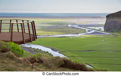 Viewpoint - Iron viewpoint on the South of Iceland near the...