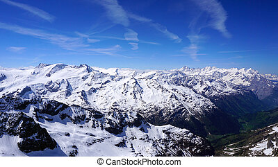 viewpoints of Titlis snow mountains in Engelberg, Lucerne,...