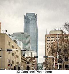 views around oklahoma city on cloudy day