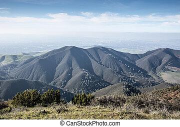 Views from Eagle Peak, Mt. Diablo State Park of the Diablo...