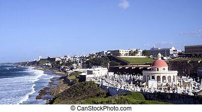 Views from the Castillo San Felipe del Morro in San Juan, PR...