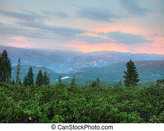 Views from the Sequoia National Park - Valley outside...