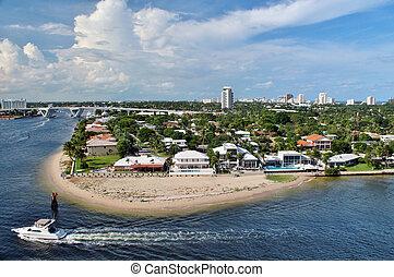 Fort Lauderdale - Views of Fort Lauderdale coastline taken...
