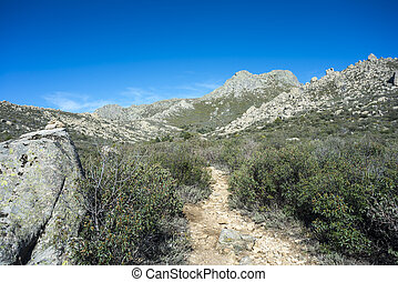 Views of Guadarrama Mountains (Madrid, Spain) with La...
