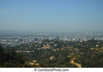 Views Of Los Angeles From The Griffith Observatory In The South Area Of The Hollywood Mountain. July 7, 2017. Hollywood Los Angeles California. USA. EEUU.