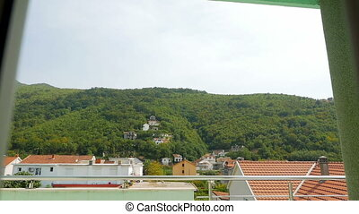 views of the mountains and the village from the balcony