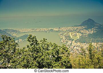 Views over Ipanema from Corcovado, Rio De Janeiro Brazil