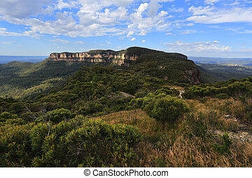 Views to Narrowneck Plateau Blue Mountains - Views over to...