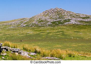 Views towards Rough Tor Bodmin Moor