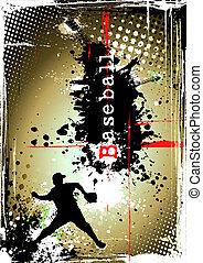 vieze , honkbal, poster