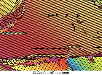 vif, couleur, vibrant, résumé, lignes, fond, gradients