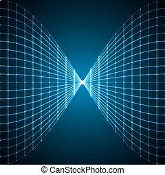 vigas, intersections., linhas, abstratos, luz