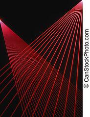 vigas, laser, rojo