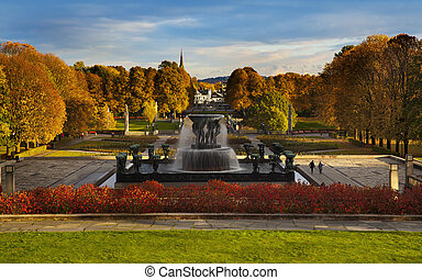 This is the world's largest sculpture park made by Gustav Vigeland.