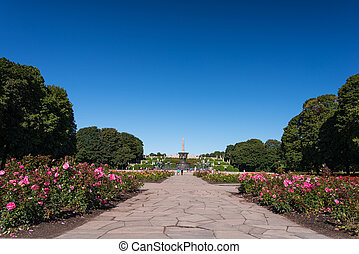 Vigeland park panorama