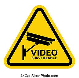vigilância, sinal, vídeo