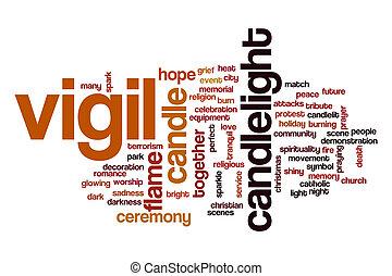 Vigil word cloud concept - Vigil word cloud
