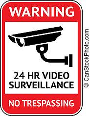 vigilancia, vídeo, cctv, etiqueta