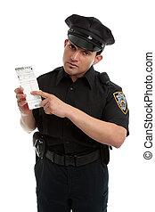 vigilare ufficiale, o, responsabile traffico, con,...