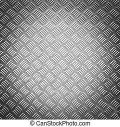 Vignette style diamond steel plate texture - Close up...
