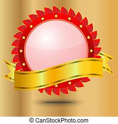 vignette with a brilliant ribbon
