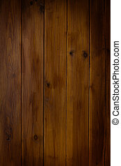 A photographed background texture of dark wood tongue and groove planking with vignette applied.