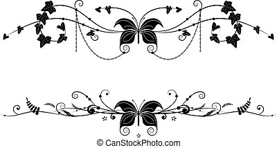 vignettes, farfalla