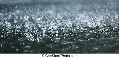viharos eső