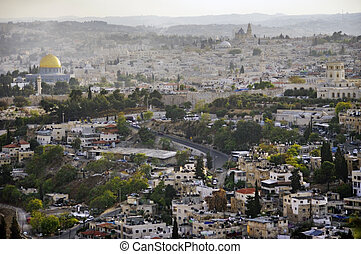 Viiew of the old city Jerusalem. Israel.