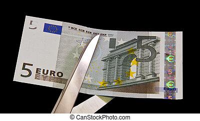 vijf euro, rekening
