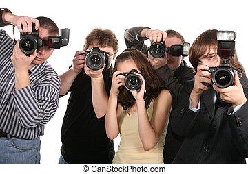 vijf, fotografen