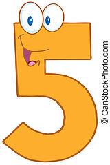 vijf, getal