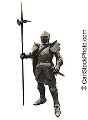vijftiende, eeuw, middeleeuws, ridder