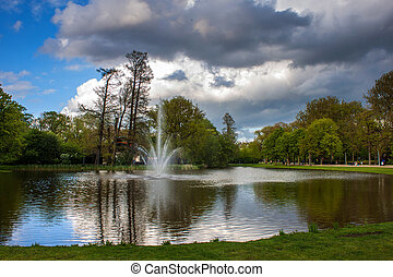 vijver, vondelpark, amsterdam