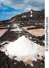 vijvers, lighthouses, fuencaliente, la, de, punto, palma, verdamping, zout