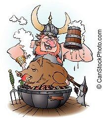 viking, パーティー, 誘う