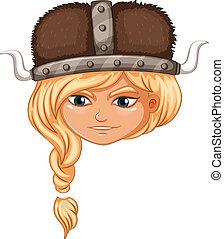 viking, 戦士, 女の子