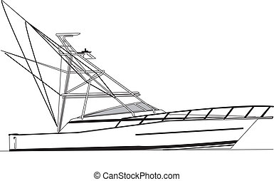 viking, 43', pesca esporte, bote