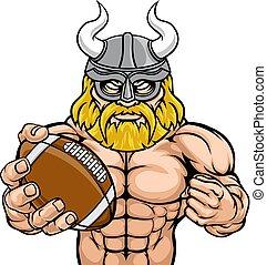 Viking American Football Sports Mascot